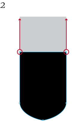 shield element elongated resizing example